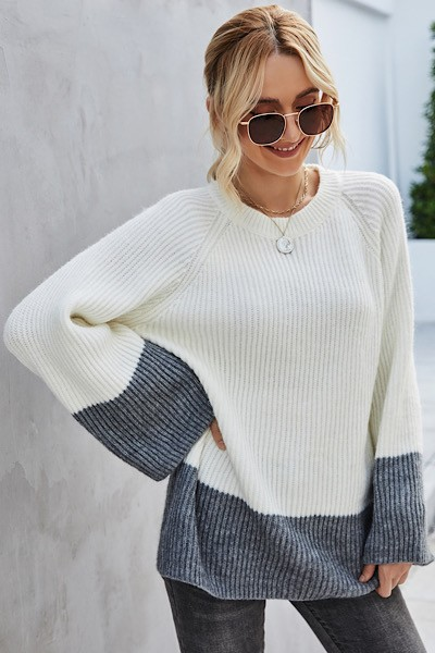 oversized stripe sweater - orangeshine.com