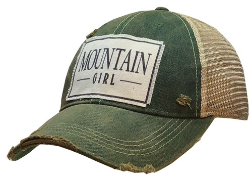 Mountain Girl Trucker Hat - orangeshine.com