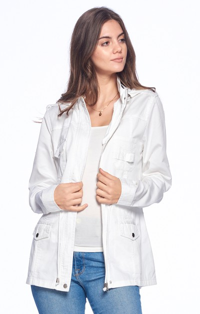 LADYS  ZIP UP CASUAL SAFARI MILITARY - orangeshine.com
