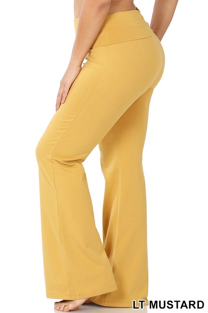 PLUM PREMIUM COTTON YOGA FLARE PANTS - orangeshine.com