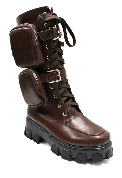 Womens long lace-up strap boots - orangeshine.com