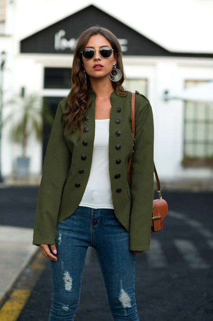 Blazer jacket casual top office coat - orangeshine.com