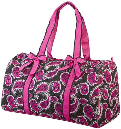 Paisley Quilted Duffle Bag - orangeshine.com