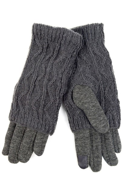 Double Layer Knitted women gloves - orangeshine.com