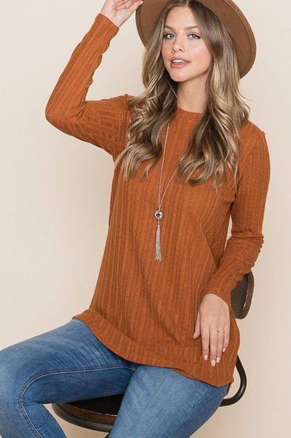 RELAXED FIT KNIT TOP - orangeshine.com