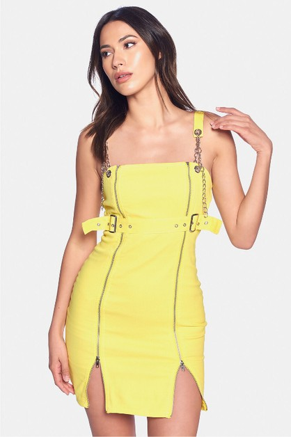 ZIPPER DRESS  - orangeshine.com