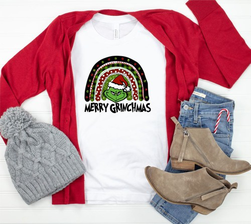 Merry Grinchmas Crew Neck Tee  - orangeshine.com