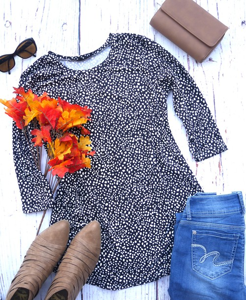 Animal Print Tunic Top - orangeshine.com