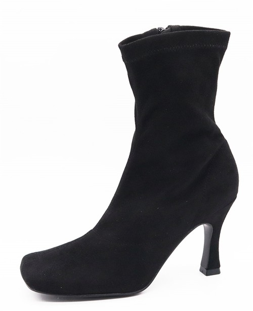 Womens Stiletto Heel Square Toe Booties - orangeshine.com