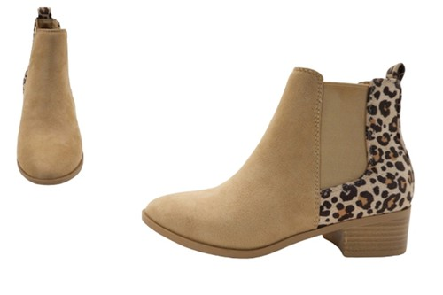 Women`s Pointed toe chunky heel booties - orangeshine.com