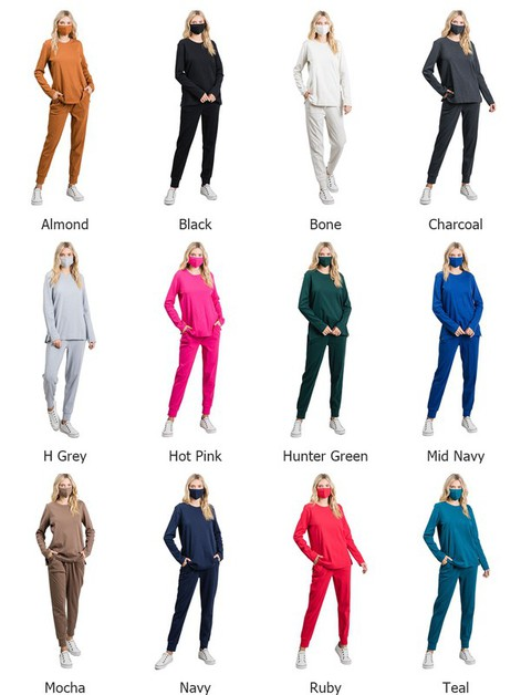 Curvy Loungewear Set Free Mask - orangeshine.com