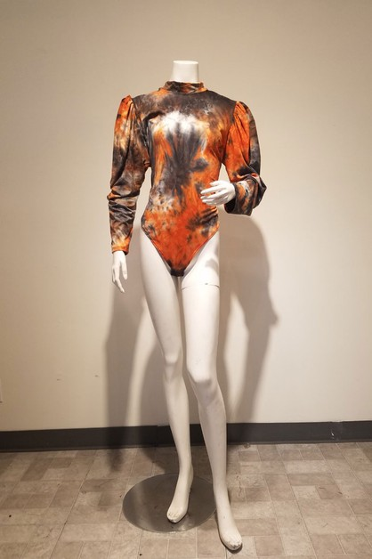 long puff sleeve bodysuit - orangeshine.com