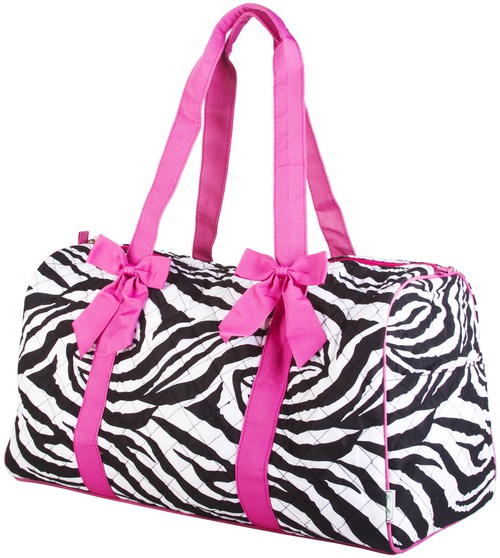 Zebra Quilted Duffle Bag - orangeshine.com
