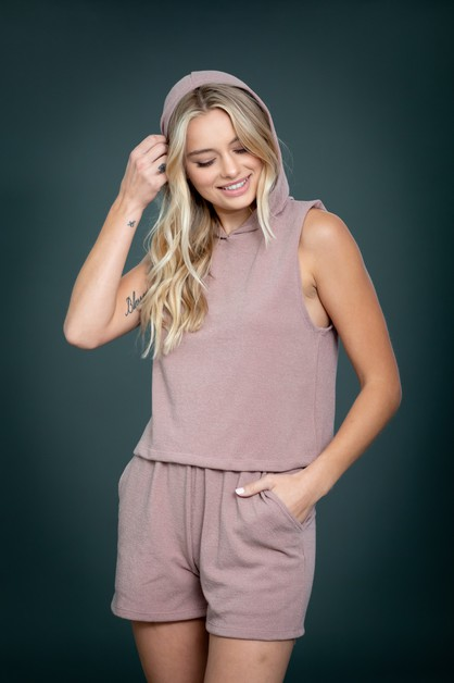 Crop Hoodie Top and Short Pants Set - orangeshine.com