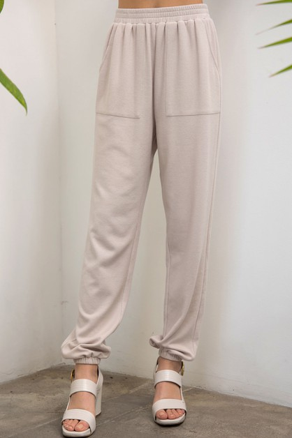 Lounge Solid Pants - orangeshine.com