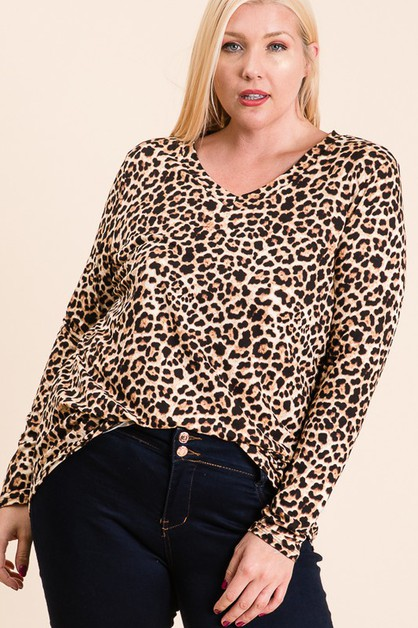 PLUS - ANIMAL TUNIC TOP - orangeshine.com