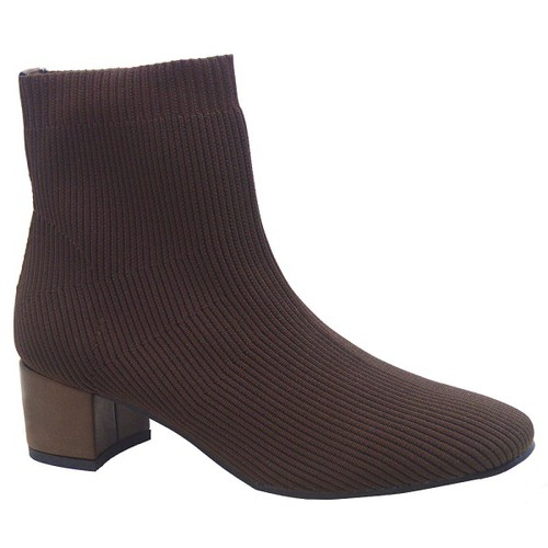 Women`s thick heel pointed toe booties - orangeshine.com