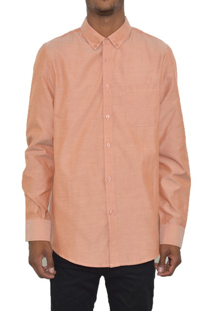 Mens Long Sleeve Pastel Button Down  - orangeshine.com