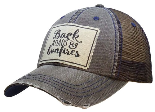 Back Roads and Bonfires Trucker Hat - orangeshine.com
