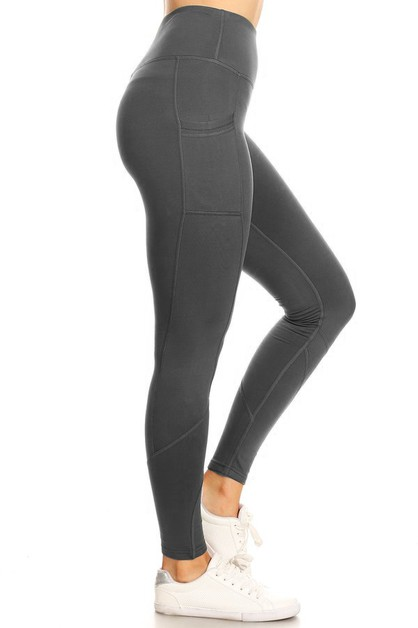 Fleece lined yoga legging - orangeshine.com