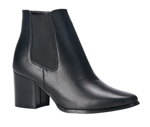 Pointed Toe Mid Heel Slip On Booties - orangeshine.com