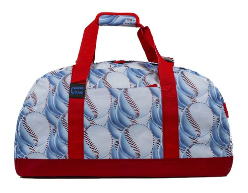 Baseball Sports Gym Duffle Bag 21 in - orangeshine.com