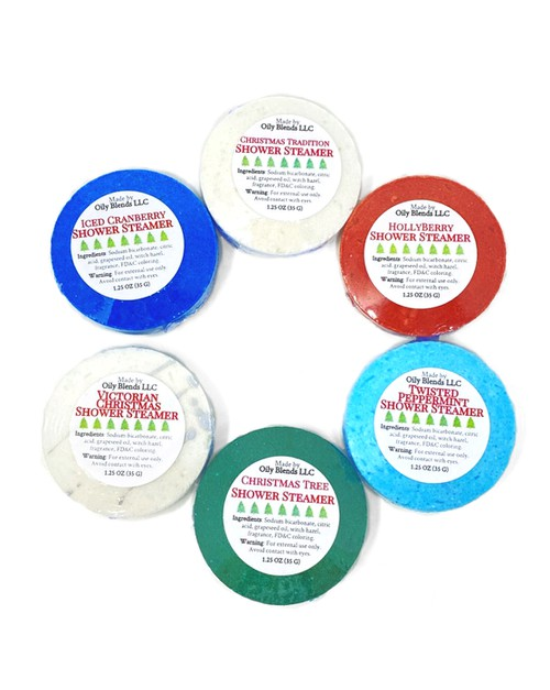 Christmas Shower Steamers - orangeshine.com