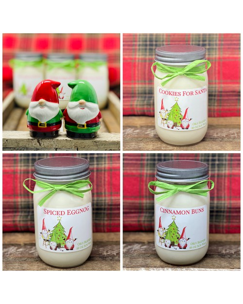 Gnome Christmas Candles - Sampler - orangeshine.com