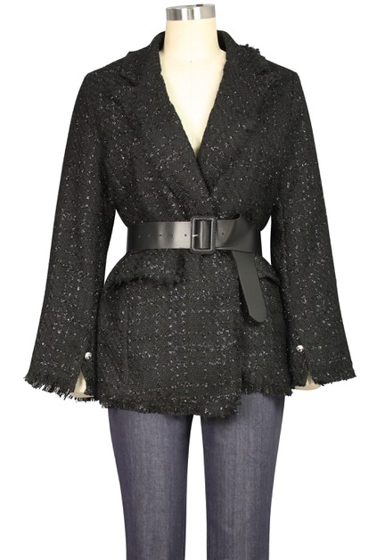 Glitter Tweed Jacket - orangeshine.com