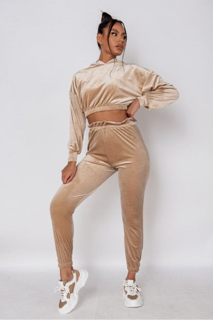 Velour  Jogger Set - orangeshine.com