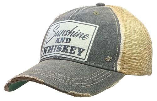 Sunshine and Whiskey Trucker Hat Cap - orangeshine.com
