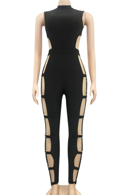 sexy hollow jumpsuit - orangeshine.com
