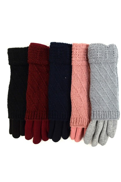 Knitted Touch Screen Gloves - orangeshine.com