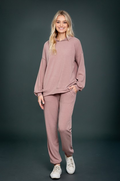 Hoodie Top and  Jogger Loungewear SE - orangeshine.com