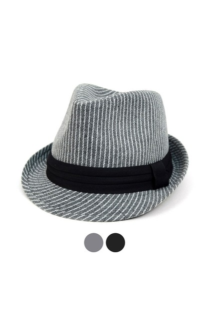 Fall Winter Striped Trilby Fedora  - orangeshine.com