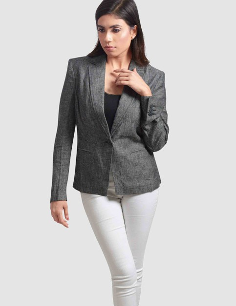 Womens Single Breasted Blazer - orangeshine.com
