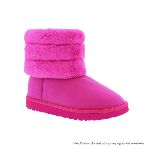 Kid Fur Lined Winter Booties - orangeshine.com