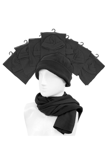 60pc Men Fleece Scarf  Hat Set - orangeshine.com