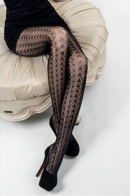 Triangle Prism Fishnet Tights - orangeshine.com