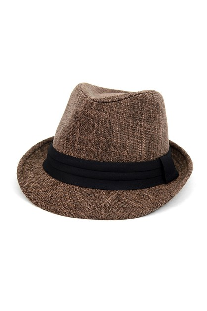 Fall Winter Brown Trilby Fedora Hat  - orangeshine.com