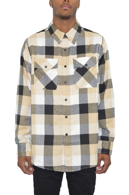 FULL PLAID CHECKERED FLANEL SHIRT - orangeshine.com