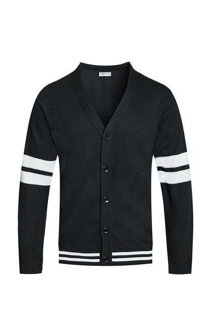 TWO STRIPE CARDIGAN - orangeshine.com