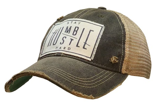 Stay Humble Hustle Hard Trucker Hat - orangeshine.com