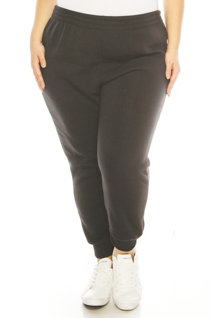 Plus size fleece jogger pants - orangeshine.com