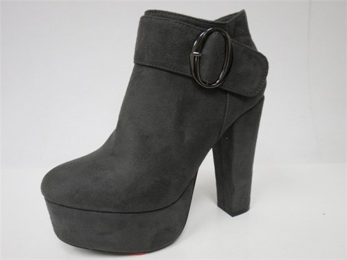Women Strap Buckle HIGH Heel Booties - orangeshine.com