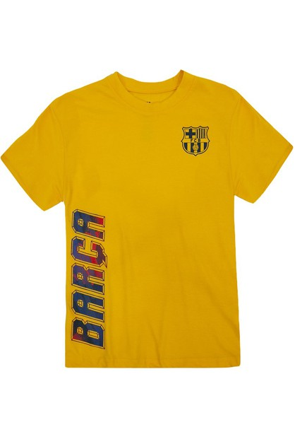 BOYS BARCA CREWNECK COTTON T-SHIRT - orangeshine.com