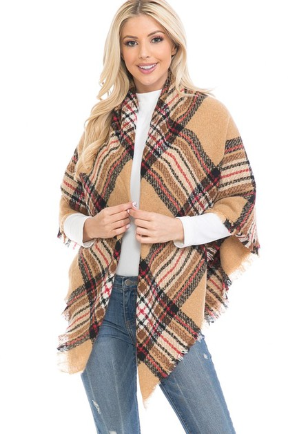 PLAID SHAWL  BLANKET SCARF - orangeshine.com