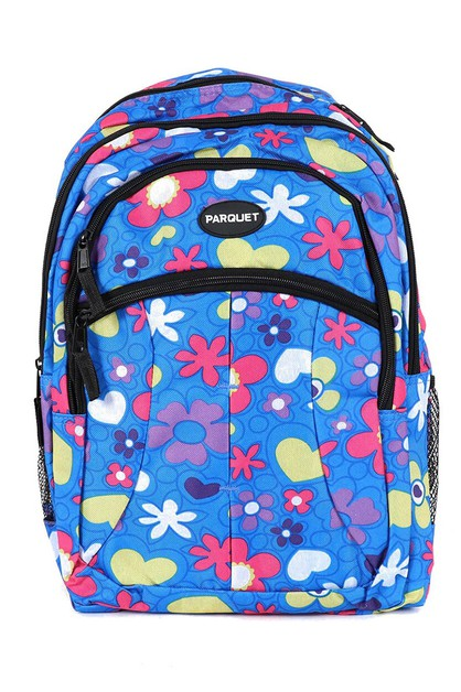Flower and Heart Novelty Backpack  - orangeshine.com