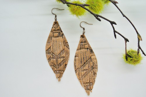 Leather Fringe Earrings - orangeshine.com