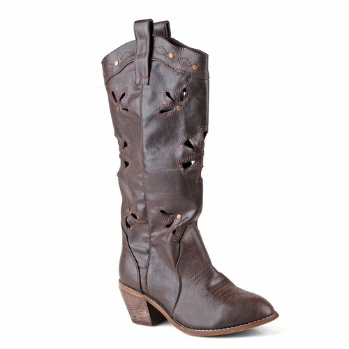 Austin06 Women Pull On Western Boots - orangeshine.com